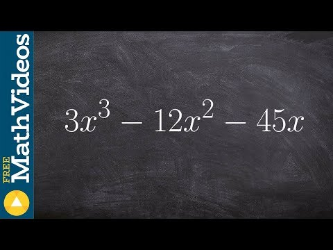 Factoring out a GCF and then a prime polynomial