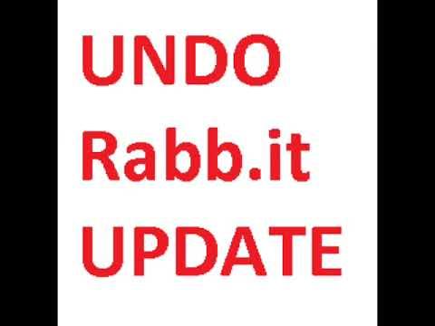 UNDO RABB.IT UPDATE