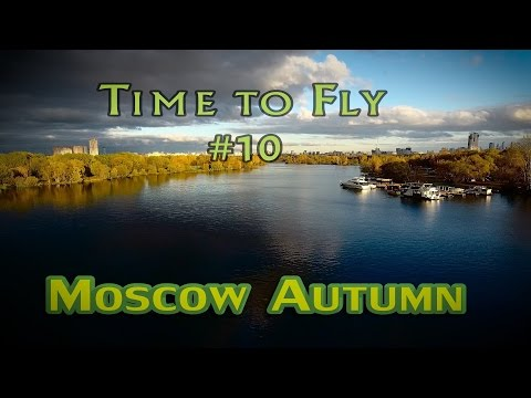 Autumn in Moscow. Nature from drone. Осенняя Москва. Aerial Phantom 4 footage