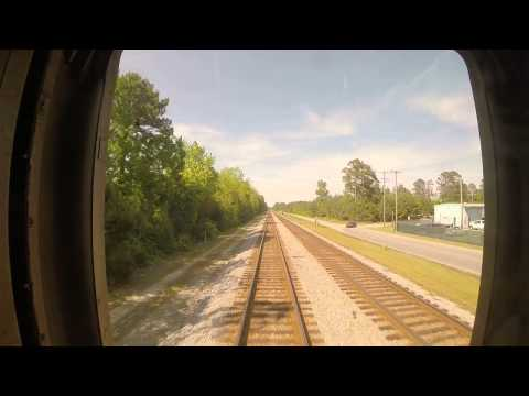 Amtrak Train 79 - Rocky Mount to Wilson Southbound Rear View