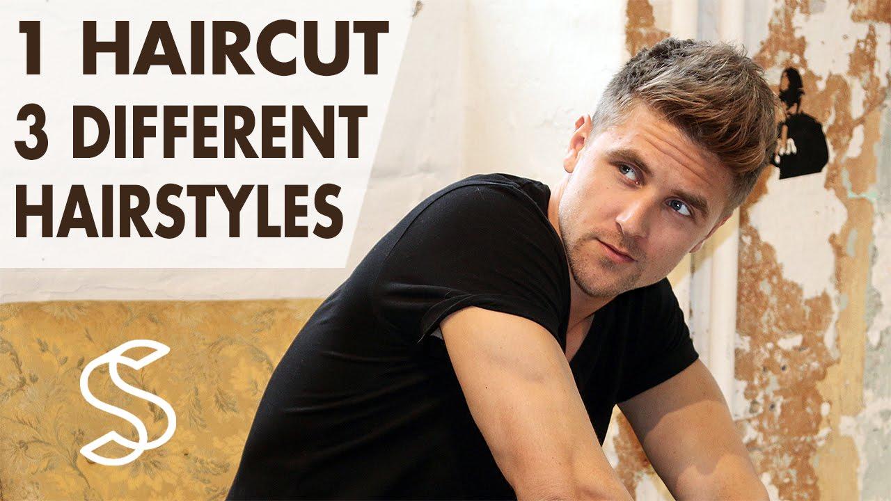 3 Hairstyles In 1 Haircut Men S Short Hair Professional Hair