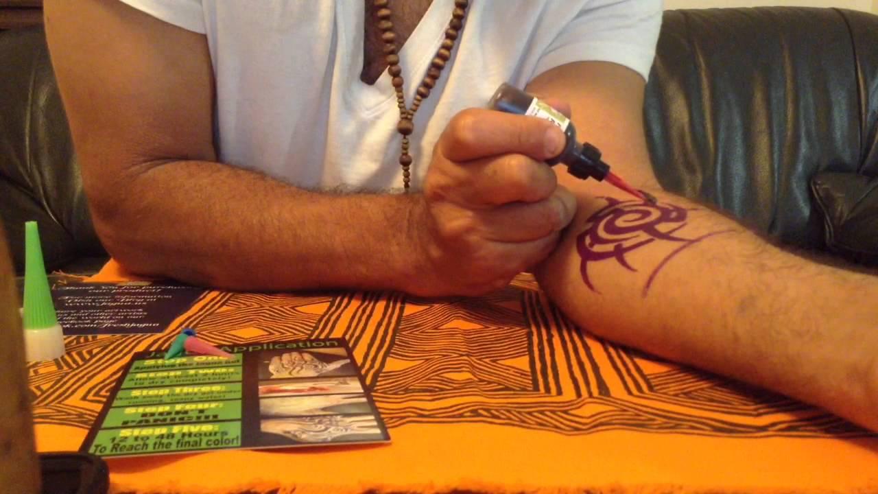 Henna Tattoo Kits Uk : Fresh jagua tattoo kit instruction gel ink diy