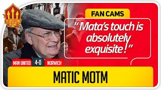 RICKY! MATA & MATIC BRILLIANT! Manchester United 4-0 Norwich Fan Cam