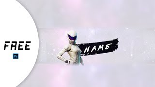 FREE to Use Fortnite Youtube Banner Template  White Out Inspired  Photoshop  Read Description!