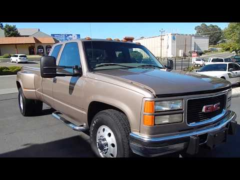 1997 GMC C3500 Dually 6 5L Turbo Diesel Video Overview And Walk Around.