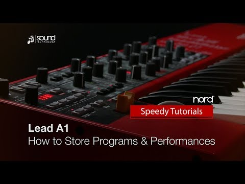 Nord Lead A1 : How to store Programs and Performances
