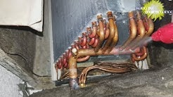 Air Conditioner A Frame Coil vs Slant Coil Inside Outside View Of Two Types Of Evaporator Coils