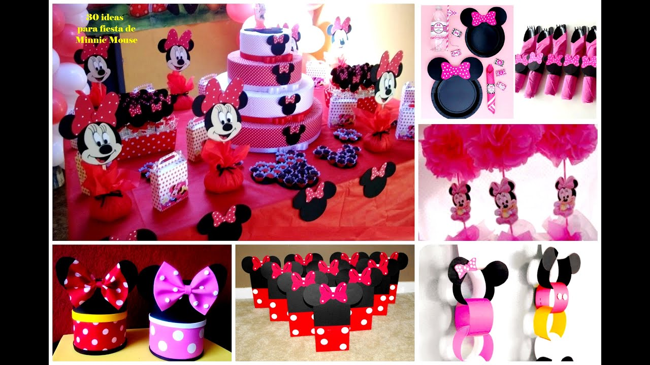 30 ideas para fiesta de minnie mouse youtube - Manualidades para fiestas ...