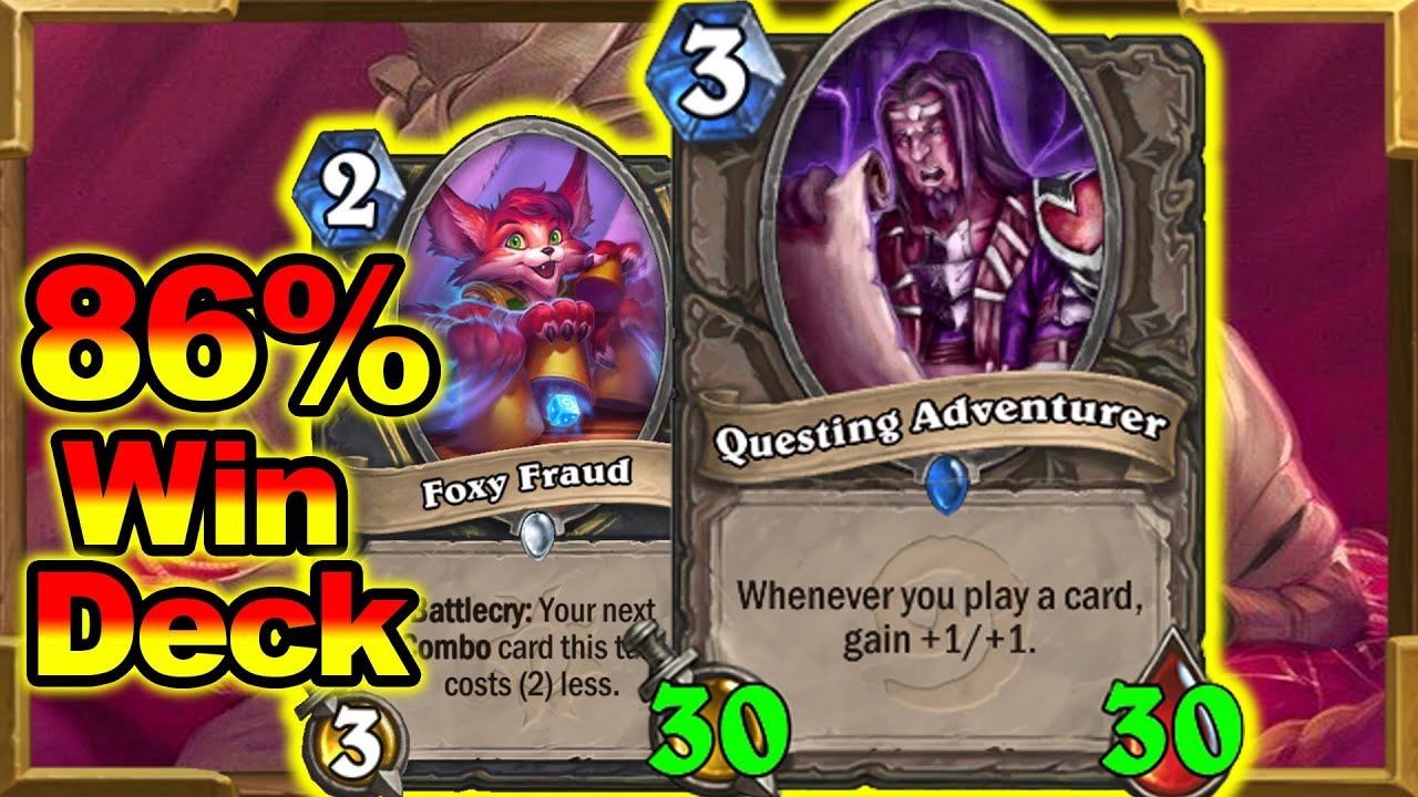Best Standard Rogue Deck Climbing Legend In March! More Mana Than Druid Is Tempo Time | Hearthstone