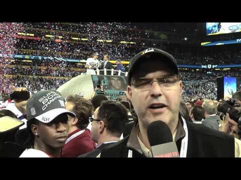 Giants Eli Manning Roman Gabriel SB XLVI Postgame
