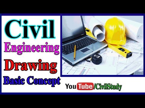 Civil Engineering Drawing Basic Concept - Building Plan , Section And Elevation In Urdu/Hindi