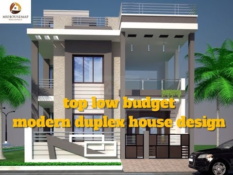 Top low budget modern duplex house design best indian for Best duplex house plans in india