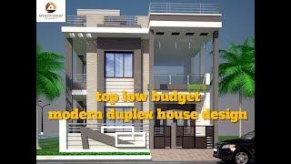 Top Low Budget Modern Duplex House Design   Best Indian Home Design 2017