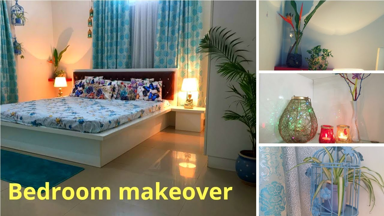 Bedroom makeover  Decoration ideas for small room Small budget bedroom  makeover
