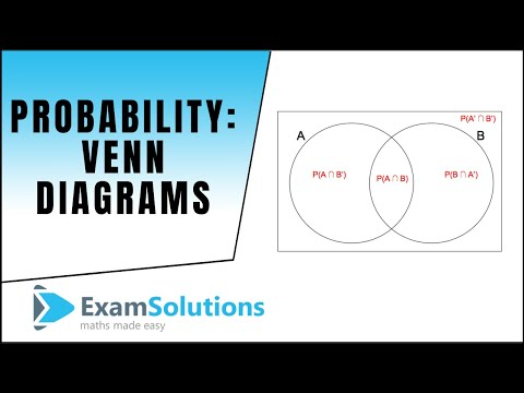 Probability Venn Diagram Example Examsolutions Youtube