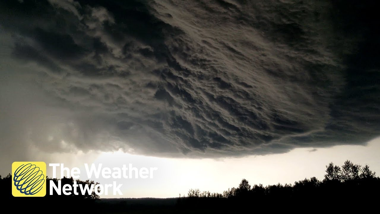Some circling clouds, lightning seen during tornado warning in Lake County