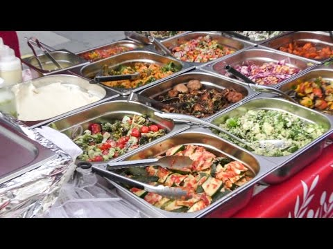 Most Colourful Salad Bar Ever Seen on London Streets