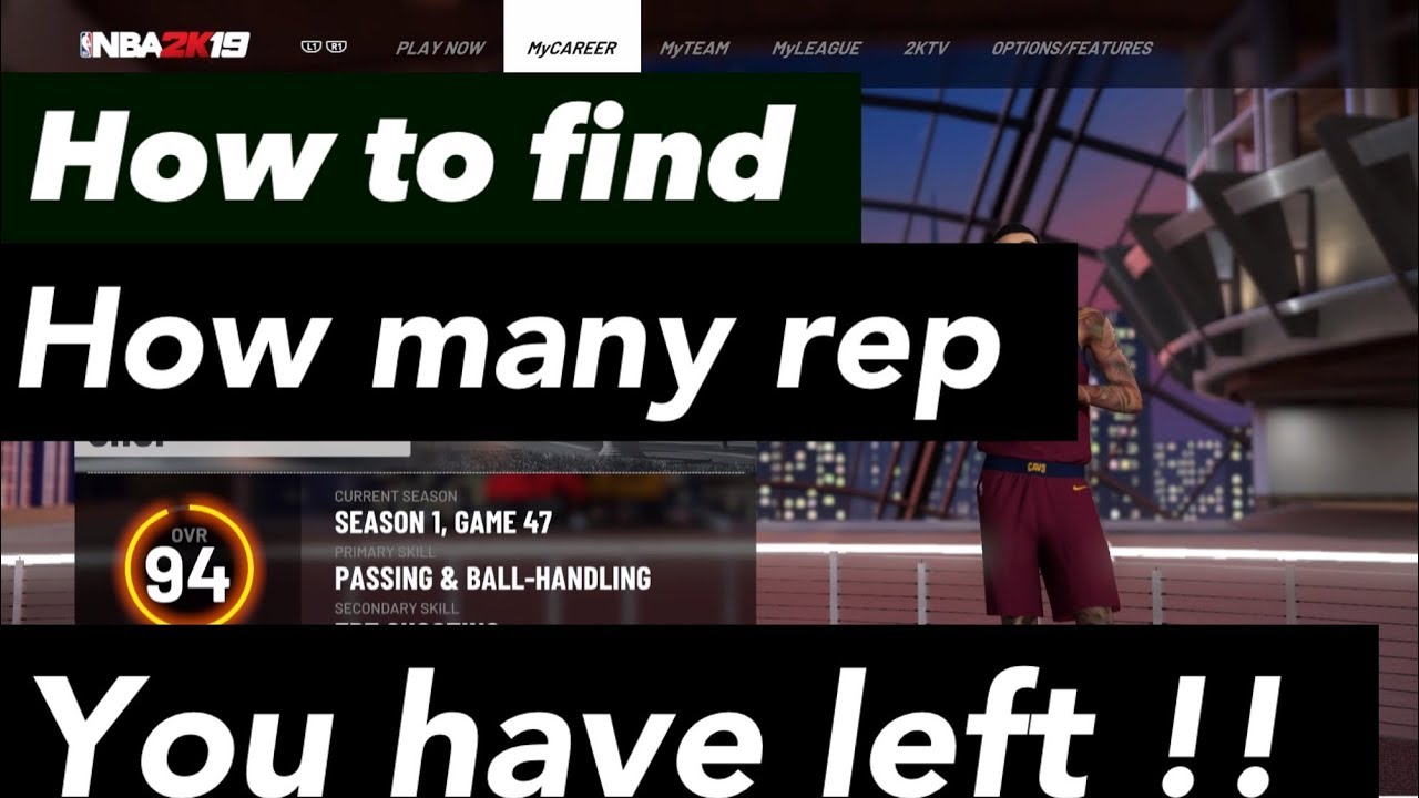 NBA 2k19 How To Find Out If You Have (1 bar , 2 bars or 3 bars For Your  next Rep)