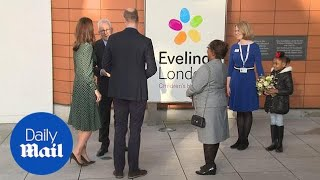 Prince William and Kate Middleton visit Evelina London Children's Hospital