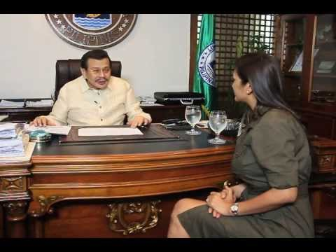 "President-Mayor Joseph ""Erap"" Ejercito Estrada of Manila Thumbs Up TV Feature"