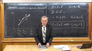 Урок 10. Действия над проекциями вектора