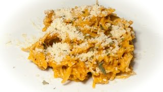 Creamy Roasted Red Pepper Pasta (vegan & Low Salt!)