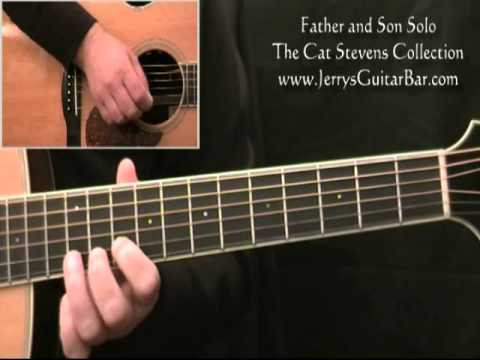 How To Play The Guitar Solo Cat Stevens Father And Son Youtube