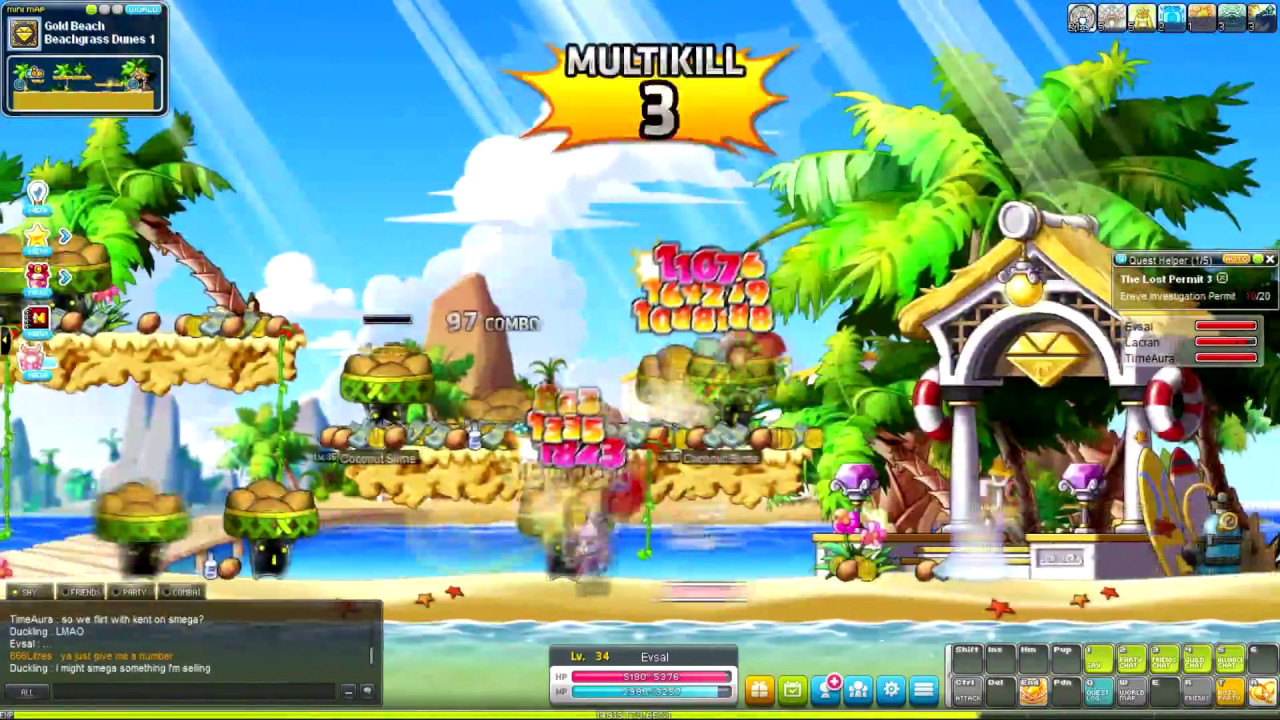 Maplestory m how to level up fast in this mobile game.