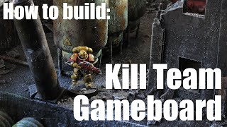 How to build a Kill Team Gameboard || Warhammer 40.000 || Necromunda || Ruined City || Ruins ||