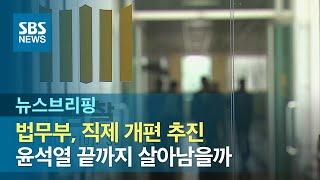 법무부, 직제 개편 추진…윤석열 끝까지 살아남을까 / SBS / 주영진의 뉴스브리핑