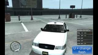 How to add police car to GTA 4 and police lights