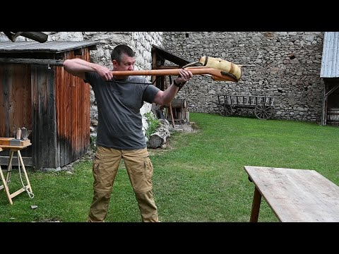 Shooting a 386 lb Great Yew Crossbow