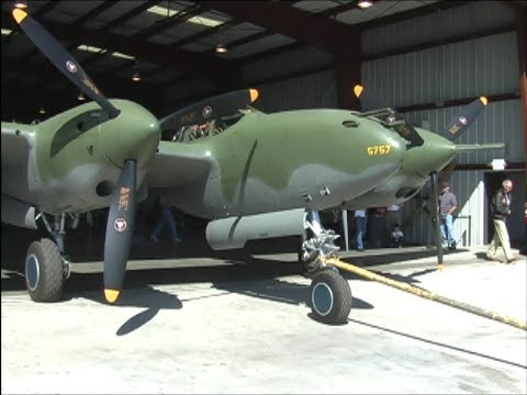 "Restored Lockheed P-38 ""Glacier Girl"" UP CLOSE Video Study"
