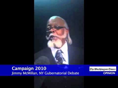 NY Governor Candidate Jimmy McMillan of the
