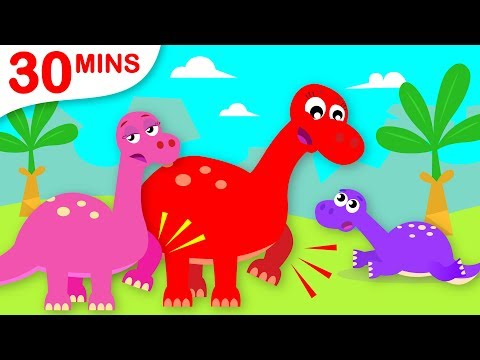 Baby Dinosaur Learns the Dinosaur Stomp | Paw Patrol Chase | Where are My Wings | by Little Angel
