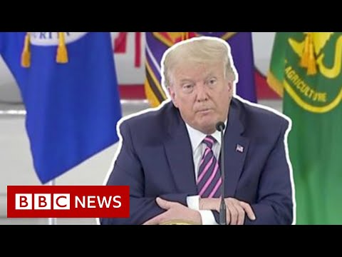 Trump to fire responders: 'It'll start getting cooler' - BBC News