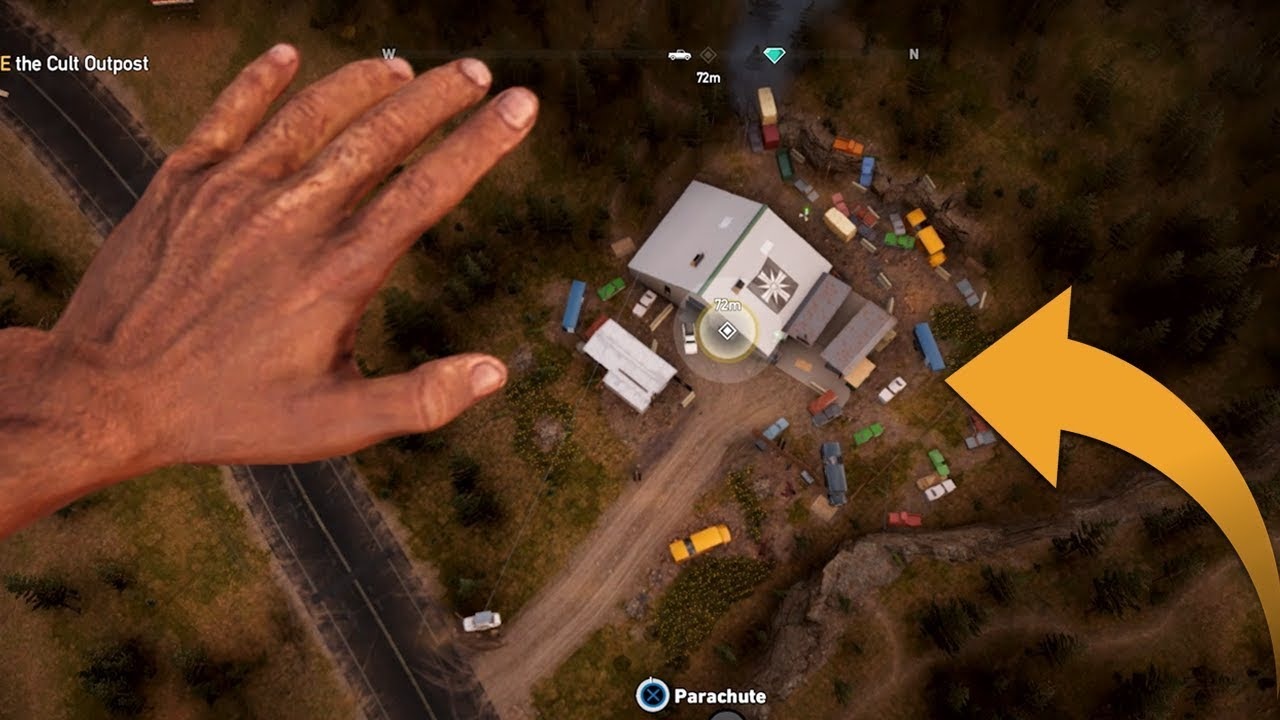 Far Cry 5 Cult Outpost Liberation Stealth Gameplay Youtube