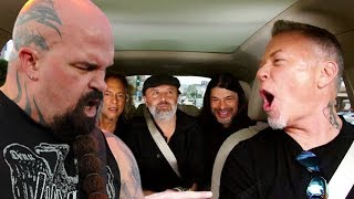 Metallica's James Hetfield Rocks Out To Slayer In His Car