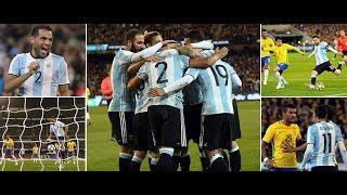 Argentina vs brazil (arg 1-0 bra) highlights ray hudson ব্রাজিলকে ১-০ গোলে হারালো আর্জেন্টিনা