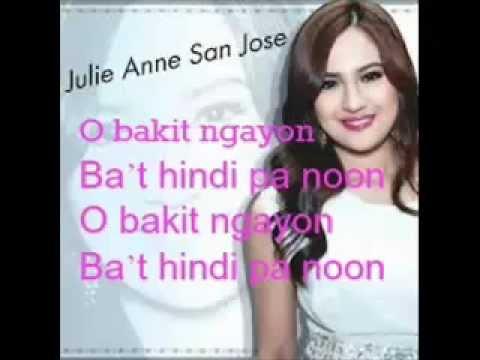 there lyrics julie anne jose