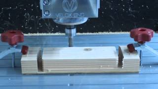 "Velox Cnc Router 36x36 Machine Cutting Wood 1.3"" Deep Using Mach 3"