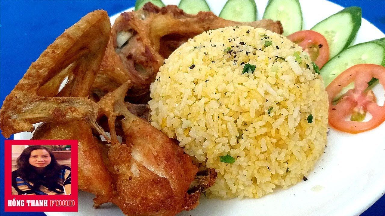 Cách làm món Cơm Gà chiên giòn dễ làm nhất cho bữa cơm gia đình by Hồng Thanh Food