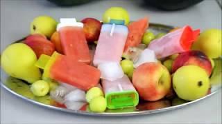 Karpuzlu Meybuz Dondurma nasil yapilir tarifi - 3 malzeme ile Meyveli dondurma - Nurmutagi