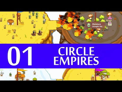 Circle Empires Gameplay Let's Play Part 1 [Steam Version] (FAST PACED STRATEGY)