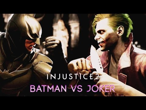 Batman vs Joker (INJUSTICE 2) Rival Clashes, Intros, Super Moves
