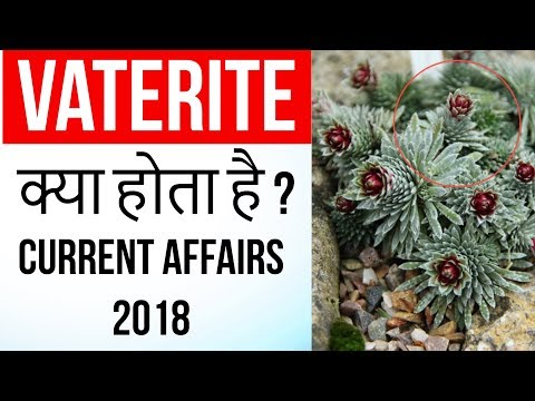 Vaterite - Rare & Unstable mineral found in Alpine plants for first time - Current Affairs 2018