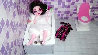 How To Make A Bathroom (bathtub) For Doll Monster High, Barbie, Etc