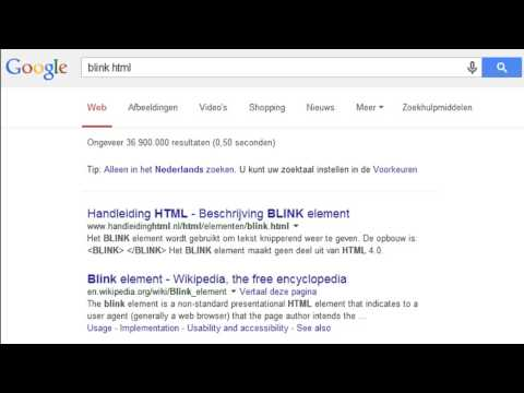 Easter Eggs Google: Marquee HTML and Blink HTML