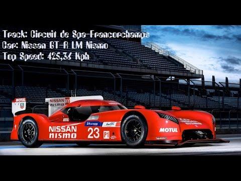 Team Challenge Nissan GT-R LM Nismo  Top Speed 425,36 Kph