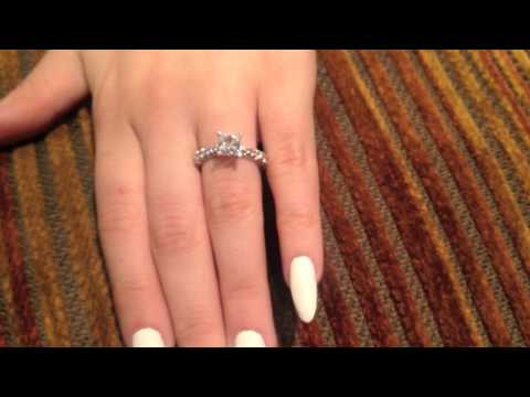 1 ct. Princess cz Engagement Ring